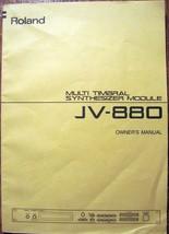 Roland JV-880 Synthesizer Midi Module Original Owner's Operation Manual ... - $34.64