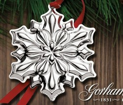 2018 Annual Sterling Silver Snowflake Christmas Ornament by Gorham New ... - $98.10