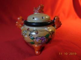 Mini Porcelain, Lusterware, Inscense Burner, Marked FO REIGN, Inside Cir... - $13.99