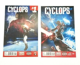 Cyclops 1 & 2 First Print July 2014 Marvel Comics Xmen Rucka Dauterman S... - $5.94