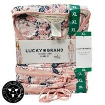 Lucky Brand Women's Pink 3-piece Top, Short & Pant Pajama Lounge Set Sma... - $69.29