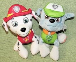 "Paw Patrol Marshall And Rocky Spin Master Plush Stuffed Animals Dogs 7"" Toys - $14.03"