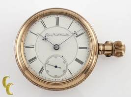 Elgin Antique Open Face Gold Filled Pocket Watch Gr 27 Size 18 15 Jewel - $1,077.32