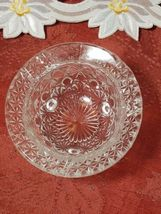 """Vintage Clear Pressed Glass Personal Ashtray Three Legs   3 1/4"""" image 4"""