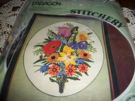 Paragon Needlecraft Stitchery Kit 0909~Symphony of Color Crewel Kit - $30.00