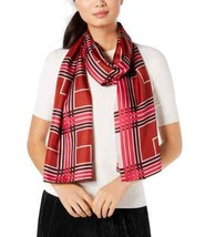 Echo Plaid Silk Scarf (Medium Purple, One Size) - $34.38