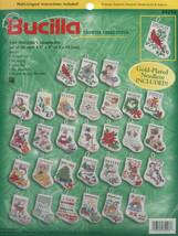 "Bucilla Cted Cross Stitch Kit 3.5"" 30/Pkg-Tiny Stocking Ornaments(14 Ct) - $30.16"
