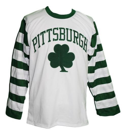 Pittsburgh shamrocks retro hockey jersey white   1