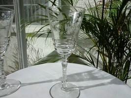 Set of 2 Libbey Rock Sharpe Cut # 3005-16 Clear Water Glasses Retired - $25.73