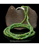 Rare ANCIENT Green INDO-PACIFIC TRADE GLASS BEAD Strand 13.88 g 100 BC –... - $48.45
