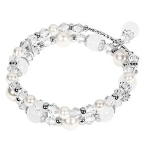 Tomazon Fashion Handmade Faux Pearl Beaded Crystals Stretch Elastic Wrap... - $41.74