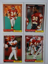 1992 Topps High Number Series Kansas City Chiefs Team Set of 4 Football ... - $1.99