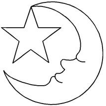 """Sten Source Quilt Stencils By Hari Walner-3-1/2"""" Moon & Star - $5.00"""