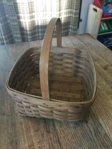 "Vintage LONGABERGER Large 12"" x 12"" Single Handle Basket 1985 KVB - $24.74"