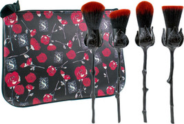 Storybook Cosmetics Limited Edition Roses Are Black Brushes Makeup ~NIP - $88.61