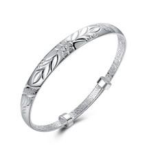 2017 Womens Sky Stars Imitation Silver Plain Screw Bangle Bracelet US - $12.73