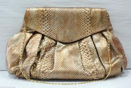 CARLOS FALCHI Fatto a Mano Bronze Python Bag $1... - $463.63