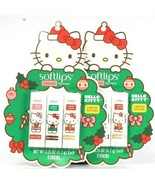 2 Softlips Hello Kitty Limited Edition 3 Ct Apple Cherry Ginger Natural ... - $27.99