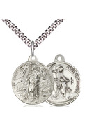 Saint Roch Patronage Against Plagues - Sterling Silver - $82.99