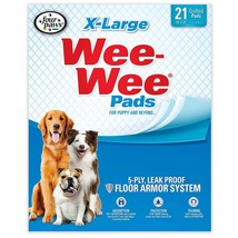 """Four Paws Wee-Wee Pads 21 pack Extra Large White 28"""" x 34"""" x 0.1 - $17.49"""