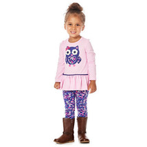 Baby Girl 24M Kids Headquarters 2pc. Owl Top and Leggings Set B639 - $11.99