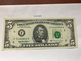 United States Lincoln $5 uncirc. banknote 1995 #10 - $14.95
