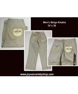 Cherokee Wrinkle Resist Men's Khakis Beige Sz 32 x 30 Flat Front - $17.99