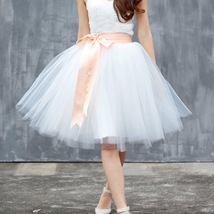 Light Blue Tulle Tutu Skirt 6-Layered Party Puffy Tulle Skirt Plus Size image 4