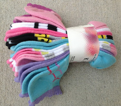 K . Bell Girls' No Show  Socks 9 Pairs,  Shoe Size 10-13 - $8.90