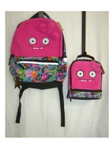UGLY DOLLS BACKPACK BOOK BAG NWT WITH MATCHING  LUNCH BAG COLOR PINK :B19-6 - $33.00