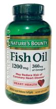 Nature's Bounty 1200mg Fish Oil 360 mg Omega 3 200 softgels 7/2021 FRESH... - $11.88