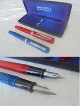 SHEAFFER NO NONSENSE 2 PENNE STILOGRAFICA ROSSA + BLU 2 Fountain Pens Bl... - $44.82