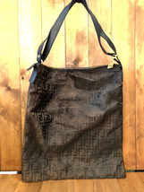 Authentic Vintage FENDI Zucca Canvas Crossbody Messenger Bag Mens XL - $245.00