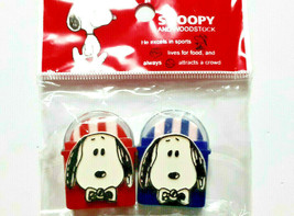 PEANUTS SNOOPY Eraser With Case Snoopy and woodstock Cute Old Rare - $22.16
