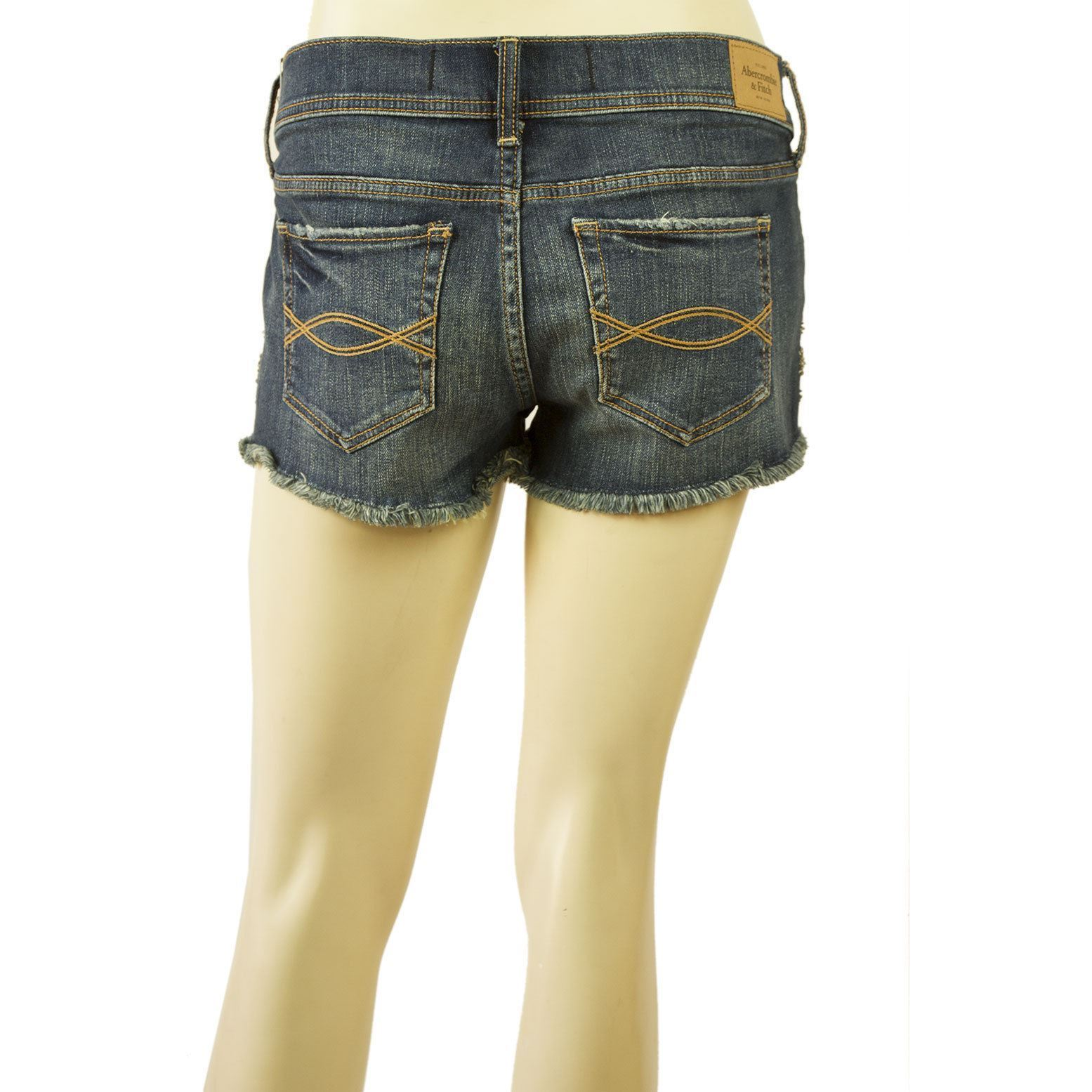 Abercrombie & Fitch Distressed Denim Jeans Beaded Stars Shorts Size 29 ( 8 )