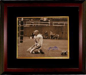 Primary image for Y.A. Tittle signed New York Giants Blood 16x20 (Sepia) Photo HOF 71 Custom Frame