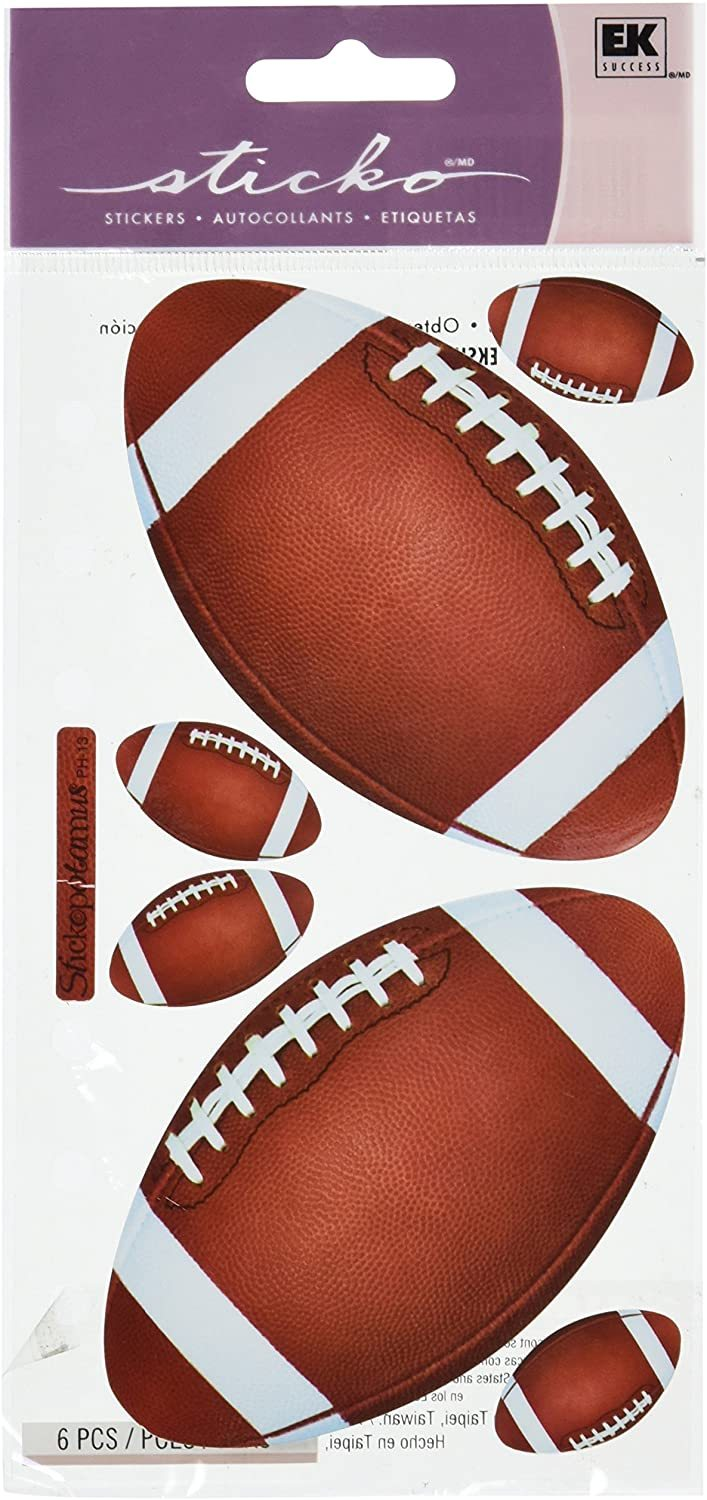 Sticko Football Stickers #SPPH13, 6 Pieces