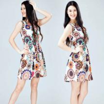 Summer Floral Print Sleeveless Mini Dress - $7.98