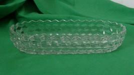 Fostoria American Clear Oval Relish Tray Dish Glass Vintage Elegant Glassware  - $12.86