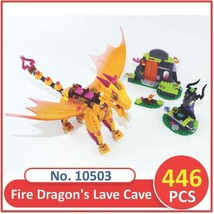 LEGO Elves The Dragon Fire Lave Cave Building Toy Blocks 10503 For Kids  - $25.71