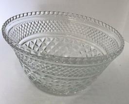 Anchor Hocking Wexford Large Serving / Salad / Fruit Bowl Punch Base Diamond  - $18.69