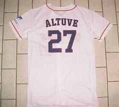 Jose Altuve #27 Houston Astros AL White Blue Promotional Youth Boys Jers... - $34.64