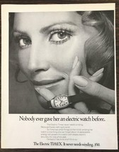 1970 Timex Electric Watch Print Ad Nobody Ever Gave Her One Before - $10.84
