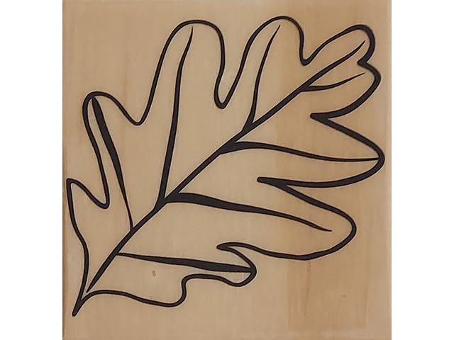 Large Leaf Wood Mounted Rubber Stamp