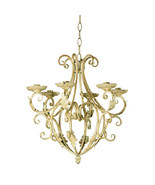 35601B  Royalty's Distressed Taper Candle Holder Chandelier Wrought Iron - $36.75