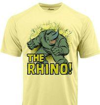 Rhino Run Dri Fit graphic T-shirt moisture wicking superhero comic book SPF tee image 2