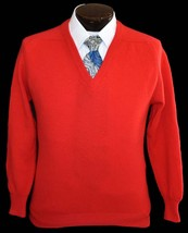 Vintage 70s Men's Wool V-Neck Sweater Size Small to Medium - $59.99