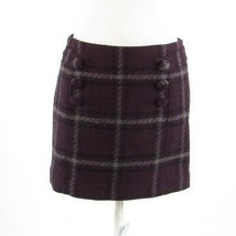 Eggplant purple gray geometric ANN TAYLOR LOFT mini skirt 10 S - $24.99