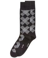 Mens Dress Socks Diamond Black Grey Alfani Alfatech 1 Pair $10 - NWT - $3.95