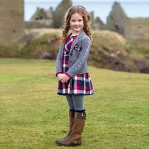 Mayoral Little Girls Brushed Tartan Check Plaid Dress